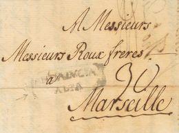 Sobre . 1776. MALAGA A MARSELLA (FRANCIA). Marca ANDALVCIA / ALTA (P.E.5) Edición 2004. MAGNIFICA Y MUY RARA. - Espagne