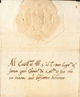 Sobre . 1530. Carta Completa Remitida Desde El Senado De SIENA A DON LOPE DE SORIA, Comisario General De La Corte Y Ejér - Espagne