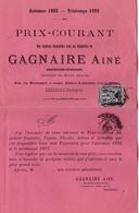 FRANCE :  Type Sage 1c Noir Sur Tarif De Pépinériste CaD De Bergerac De 1892 - 1877-1920: Periodo Semi Moderno
