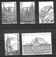 OCB Nr 4440/44 BL219 Antwerpen Anvers Brabo - Centrale Stempel - Used Stamps