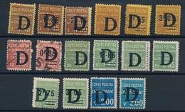 """DG-14: FRANCE: Lot """"COLIS POSTAUX"""" * Avec N°127/129-132/34-135/36 Obl-137/3/-140-142/44-145/46 - Colis Postaux"""