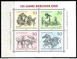 A00-27) Berlin - Mi Block 2 = 338 / 341 - ** Postfrisch - 125 Jahre Berliner Zoo - Blocks & Sheetlets