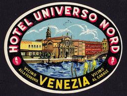 VENEZIA Hotel UNIVERSO NORD Luggage Label - 9 X 12 Cm (see Sales Conditions) - Hotel Labels