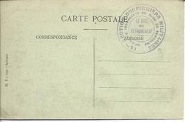 """30 Remoulins FM""""15° Section D'infirmiers Militaires-infirmerie Permanente De Gare De Remoulins/le Chef Du Détachement - Storia Postale"""