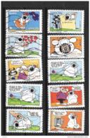 2006 - 8 - 86 à 95 - Chien Cubitus De Rodrigue Et Aucaigne - Oblitéré - Frankrijk