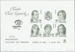**6/7P. 1984. Pruebas De Lujo. ESPAÑA 84. MAGNIFICAS. Edifil 2020: 156 Euros - Variedades & Curiosidades