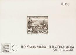 **9P. 1986. Prueba De Lujo. CALELLA. MAGNIFICA. Edifil 2020: 1.200 Euros - Variedades & Curiosidades