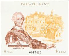 **17P. 1988. Prueba De Lujo. CARLOS III. MAGNIFICA. Edifil 2019: 63 Euros - Variedades & Curiosidades
