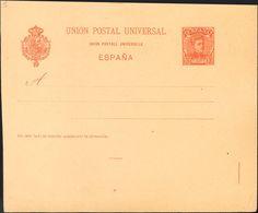 (*)EP39. 1901. 10 Cts Naranja Sobre Tarjeta Entero Postal (pliegue Vertical) Variedad De Guillotinado SIN CORTAR EL MARG - Enteros Postales
