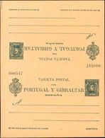**EP44. 1903. 5 Cts + 5 Cts Verde Azul Sobre Tarjeta Entero Postal De Ida Y Vuelta (sin Plegar). MAGNIFICA. (Láiz 2006,  - Enteros Postales