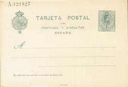 (*)EP55. 1916. 5 Cts Verde Sobre Tarjeta Entero Postal. MAGNIFICA. Edifil 2020: 112 Euros - Enteros Postales