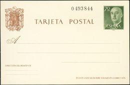 **EP90. 1962. 70 Cts Verde Sobre Tarjeta Entero Postal. MAGNIFICO. Edifil 2020: 51 Euros - Enteros Postales