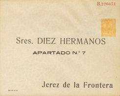 (*)EP281. 1910. 15 Cts Amarillo Sobre Entero Postal Privado DIEZ HERMANOS. MAGNIFICO. (Láiz 2006, 240 Euros) - Enteros Postales