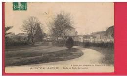 CPA-85-1908-FONTENAY-le-COMTE-JARDINS ET ECOLES DES JACOBINS- - Fontenay Le Comte