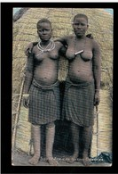 South Africa Zulu's - South African Native Beauties, Ethnic, Nude 1904 Old Postcard - South Africa