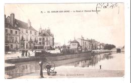 Péniches à Châlons Sur Saône (71) Le Canal - Arken