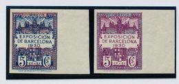 **7/8s. 1930. Serie Completa, Borde De Hoja. SIN DENTAR. MAGNIFICA Y RARA. Edifil 2019: 475 Euros - Barcelona