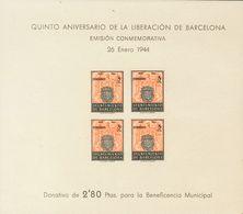 **60/61s. 1944. Hojas Bloque. SIN DENTAR. MAGNIFICAS Y RARAS. Edifil 2019: 530 Euros - Barcelona