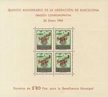 **NE25/26. 1944. Hojas Bloque. NO EMITIDAS. MAGNIFICAS. Edifil 2020: 520 Euros - Barcelona