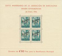 **NE29/30. 1945. Hojas Bloque. NO EMITIDAS. MAGNIFICAS. Edifil 2019: 520 Euros - Barcelona
