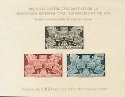 **NE31s. 1945. Hoja Bloque. NO EMITIDA Y SIN DENTAR. MAGNIFICA. Edifil 2020: +150 Euros - Barcelona