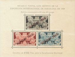 **NE32. 1945. Hoja Bloque. NO EMITIDA. MAGNIFICA. Edifil 2019: 275 Euros - Barcelona