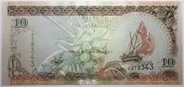 Maldives - 10 Rufiyaa - 1998 - PICK 19a - NEUF - Maldives
