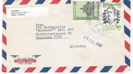 COVER CORREO AERO - VIA AIR MAIL - SELIGMAN TO ALEMANIA. - Ecuador