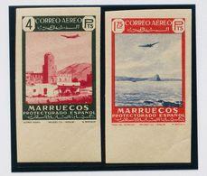 **300s, 302s. 1949. 1'75 Pts Rojo Y Ultramar Y 4 Pts Verde Y Rosa, Ambos Borde De Hoja. SIN DENTAR Y Al Dorso ARCHIVO RI - España