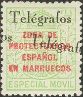 **34Chha. 1935. 1 Pts Verde. Variedad SOBRECARGA DOBLE. MAGNIFICO Y RARO. Edifil 2018: +170 Euros - España