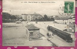 D81 - ALBI - Place Du Manège - Le Theatre Et Le Tram D'ALBAN - Albi