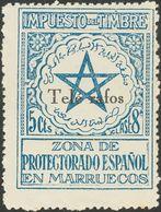 """**34Mhe. 1935. 5 Cts Azul (Tipo III). Variedad """"G"""" De TELEGRAFOS OMITIDA. MAGNIFICO. Edifil 2018: 75 Euros - España"""