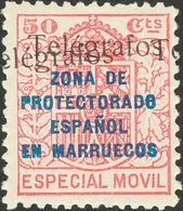 **41Ghhi. 1937. 50 Cts Rosa. Variedad SOBRECARGA DOBLE, UNA INVERTIDA. MAGNIFICO. Edifil 2018: 140 Euros - España