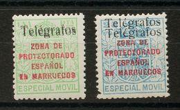 *41Fhh, 41Hhh. 1937. 25 Cts Azul Y 1 Pts Verde. Variedad SOBRECARGA DOBLE. MAGNIFICOS. Edifil 2018: 164 Euros - España
