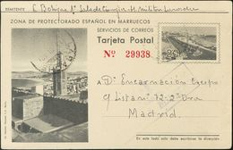 Sobre EP32. 1942. 20 Cts Gris Sobre Tarjeta Entero Postal De LARACHE A MADRID. MAGNIFICA. - España