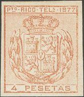 *16s. 1877. 4 Pts Castaño. SIN DENTAR. MAGNIFICO. Edifil 2019: 79 Euros - España
