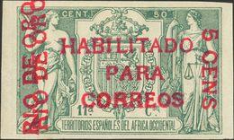 *40C. 1908. 5 Cts Sobre 50 Cts Verde (con Número). MAGNIFICO. Edifil 2018: 280 Euros - España
