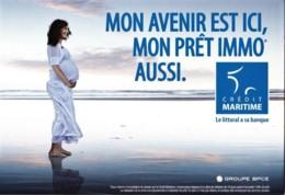 CREDIT MARITIME - Mon Avenir Est Ici ... - MER, FEMME, MATERNITE, SERENITE - CPM  TBon Etat (voir Scan) - Bancos