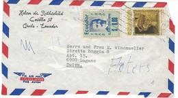 COVER CORREO AERO - VIA AIR MAIL - CASILIA - LUGANO - SUIZA.- HELEN De ROTHSCHILD. - Ecuador