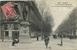 CPA Paris (Dep.75) L'Avenue De Messine Et La Statue De Shakespeare (51633) - Statuen