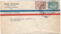 COVER CORREO AERO - AIR MAIL - GUAYAQUIL - EUCLID - OHIO. - Ecuador