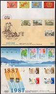 HONG KONG - GB / 1987-88 - 4 ENVELOPPES TIMBREES ILLUSTREES  (ref 5397) - Hong Kong (...-1997)