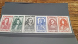 LOT 480724 TIMBRE DE FRANCE NEUF** LUXE N°612 A 617 - France