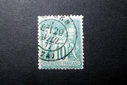 FRANCE 1876 N°76 OBL. (SAGE N/U. 10C VERT-ÉMERAUDE SUR VERT D'EAU. TYPE II) - 1876-1898 Sage (Type II)