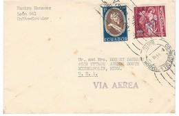 COVER CORREO AERO - AIR AEREA - QUINTO - MINNEAPOLIS. - Ecuador