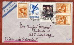 Luftpost, Briefmarken-Ausstellung Solidaritaet U.a., Buenos Aires Nach Limburg 1973 (82501) - Argentina