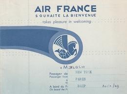 AIR FRANCE Souhaite La Bienvenue - Vieux Papiers