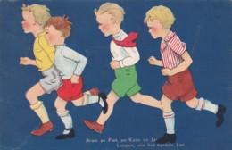 Illustrateur Néerlandais - Garçons En Short Qui Courent (lot Pat 82) - Illustratoren & Fotografen