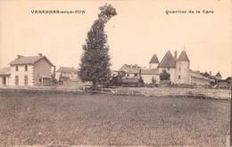 71 -   CPA VARENNES SOUS DUN Quartier  De La Gare - France