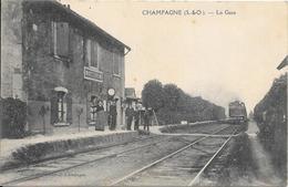 CHAMPAGNE. La Gare. - Champagne Sur Seine
